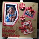 Scrapbooking - Happy Birthday Sandra 1