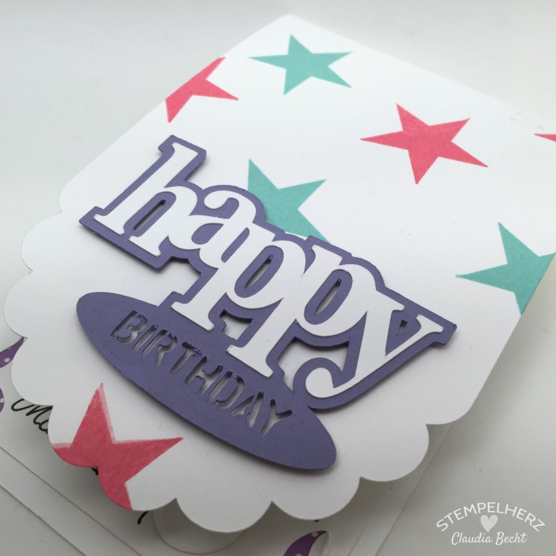 Stampin Up - Stempelherz - Geburtstagskarte - Silhouette Cameo - Wimpeleien 04