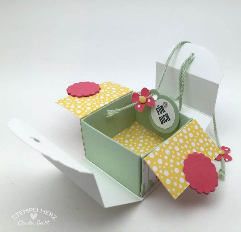Stampin Up-Stempelherz-Videoanleitung-Verpackung-Box-Schachtel-Mini-Pralinenschachtel-Pralinenbox-Honigsuesse Gruesse-Mini-Pralinenschachteln 03