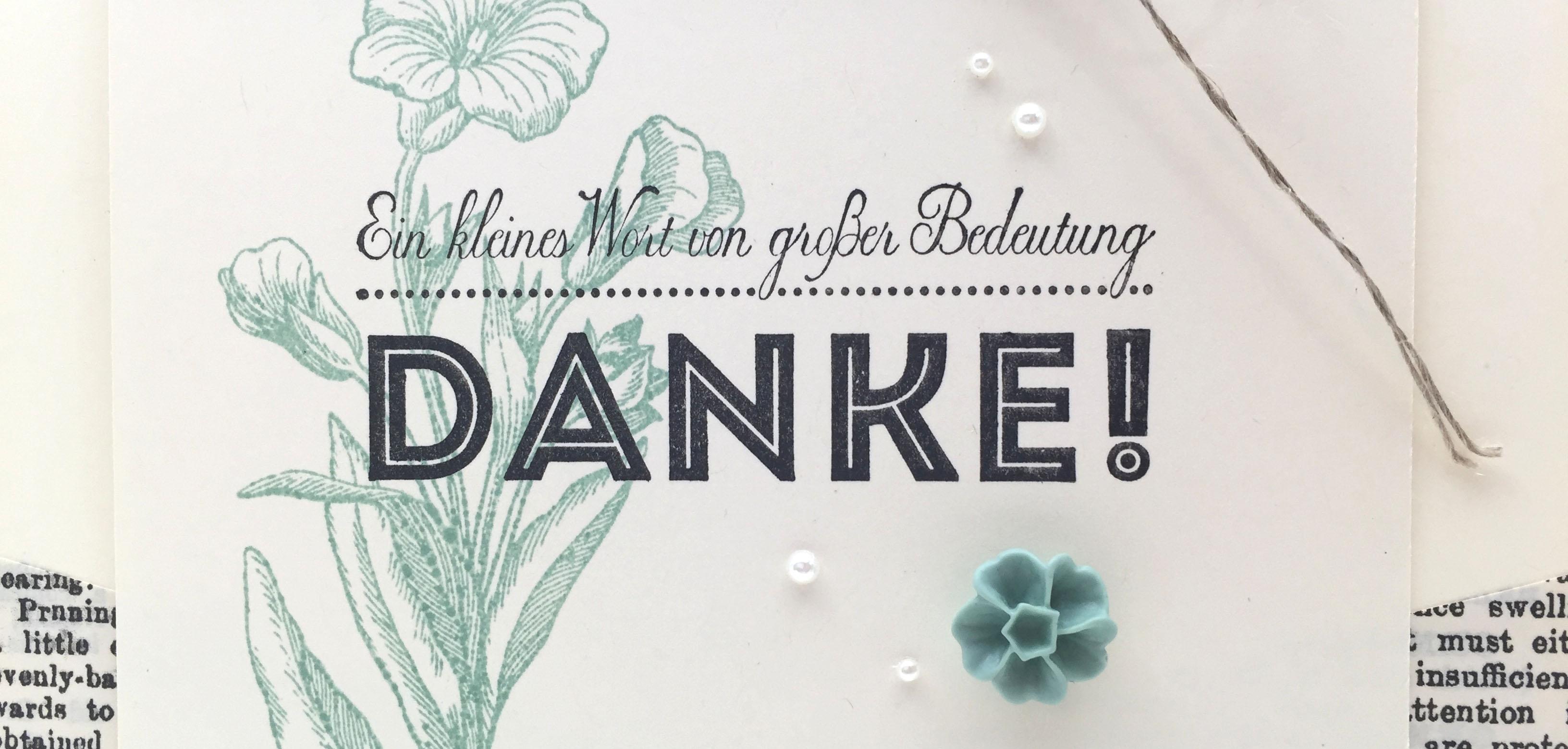 Stampin Up-Stempelherz-Dankeskarte-Von großer Bedeutung-Schmetterlingsgruß-Zeig es am Montag 27.07. Dankeskarte Beitragsbild