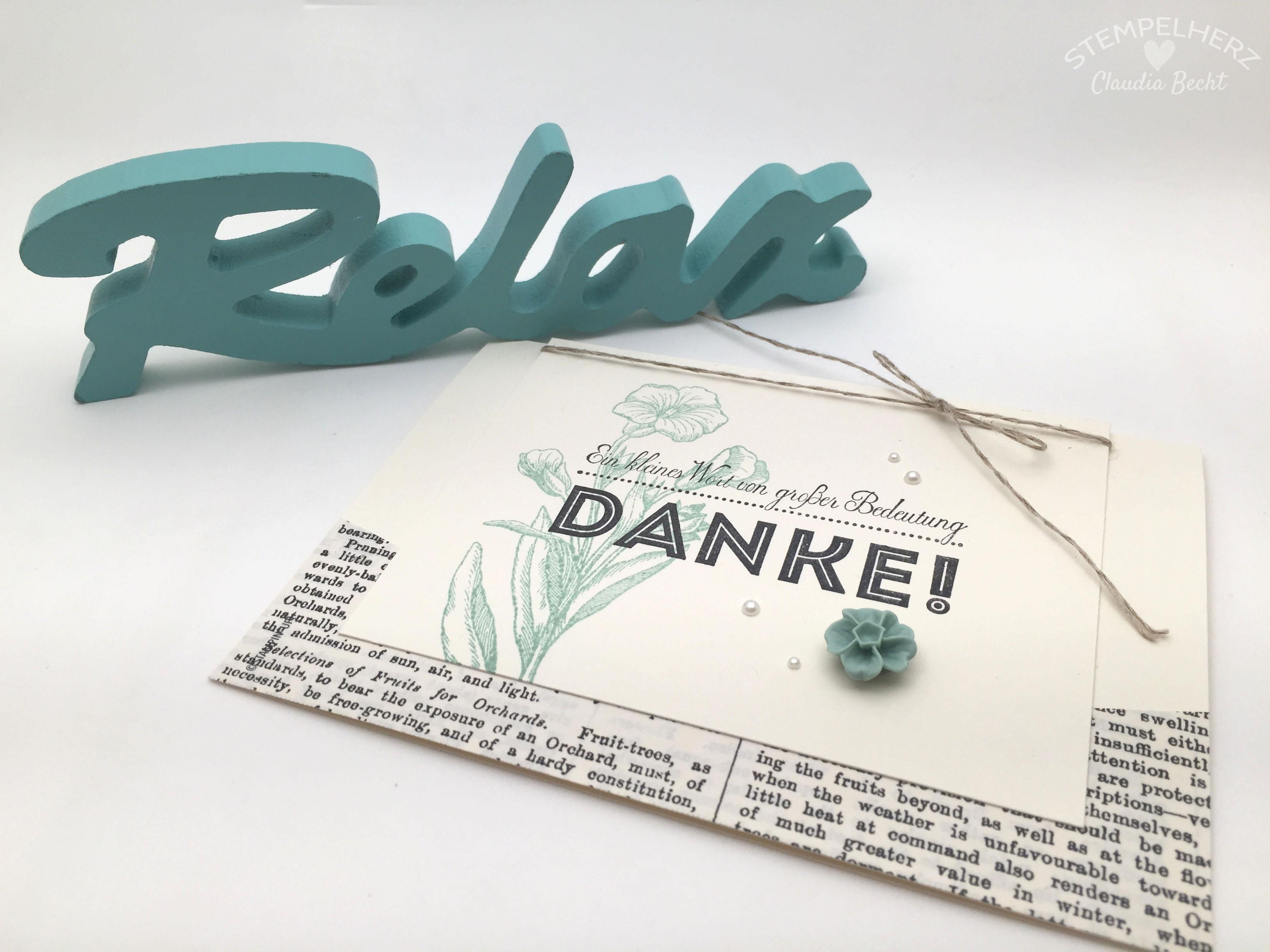 Stampin Up-Stempelherz-Dankeskarte-Von großer Bedeutung-Schmetterlingsgruß-Zeig es am Montag 27.07. Dankeskarte Ein kleines Wort 01b