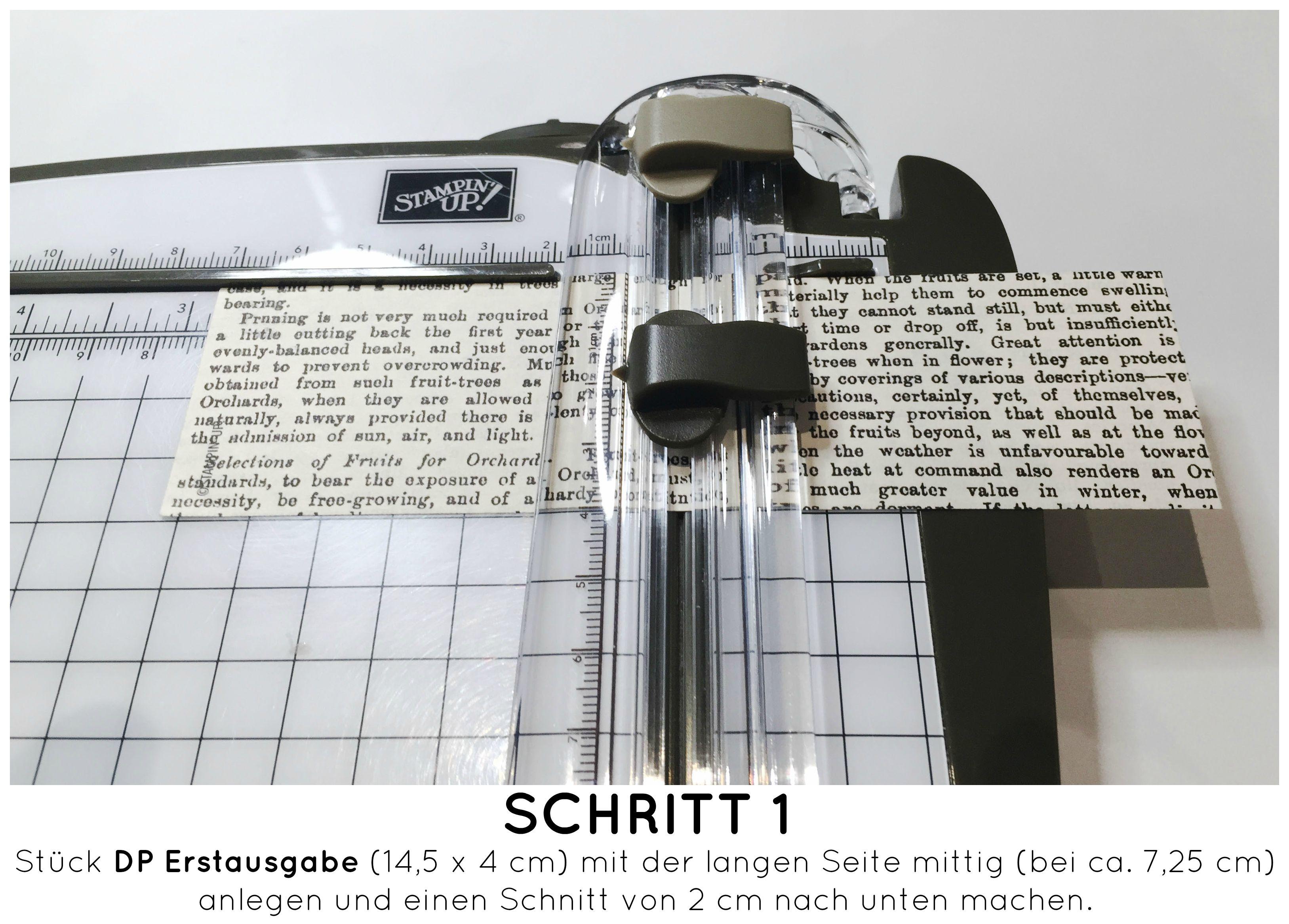 Stampin Up-Stempelherz-Dankeskarte-Zeig es am Montag Karte Danke Anleitung - Schritt 01