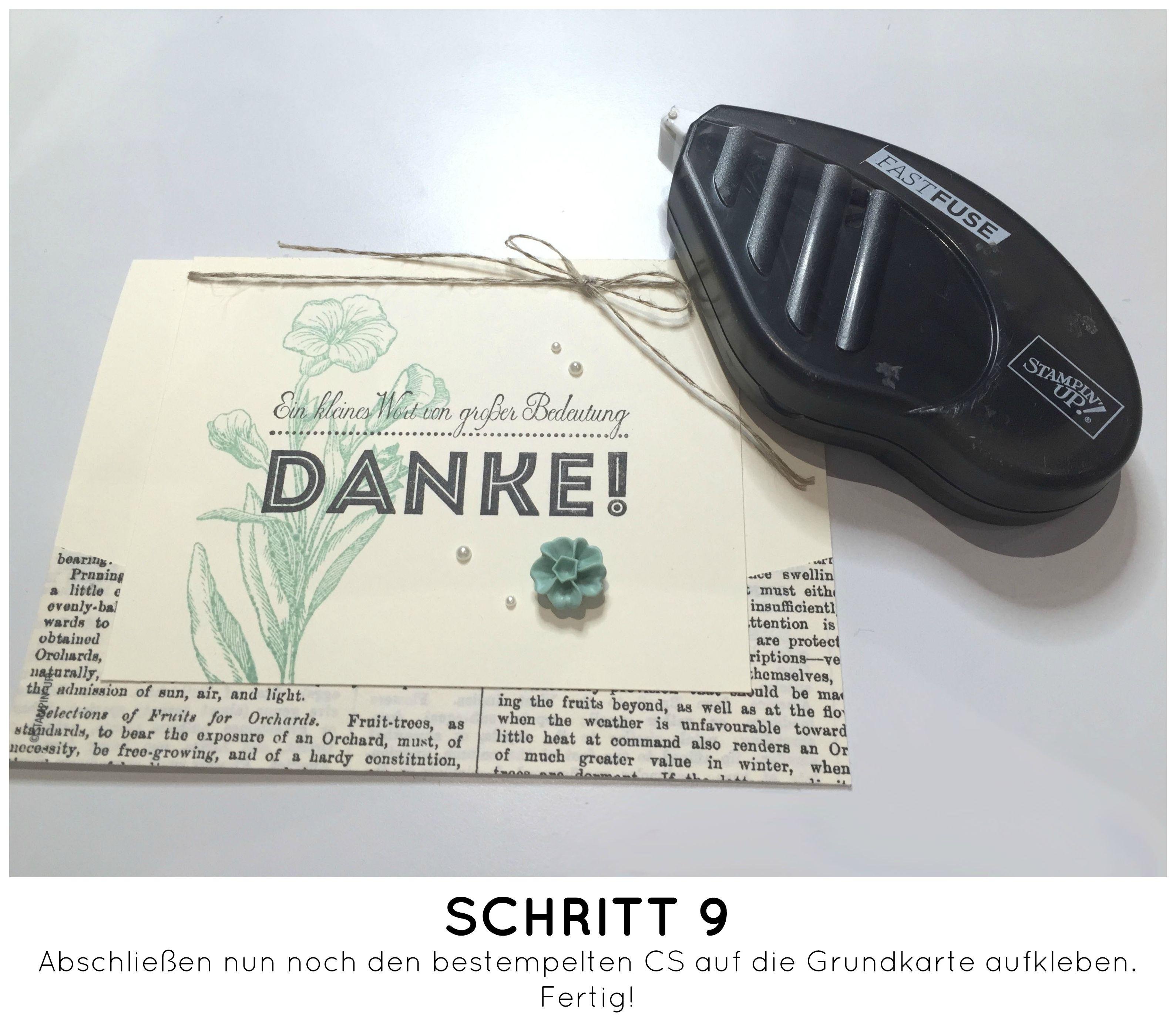 Stampin Up-Stempelherz-Dankeskarte-Zeig es am Montag Karte Danke Anleitung - Schritt 09