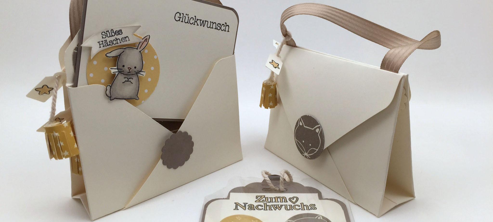 Stampin Up-Stempelherz-Double Pocket Card-Babykarte-Geschenkidee Geburt-Zum Nachwuchs-Double Pocket Card Zum Nachwuchs Beitragsbild