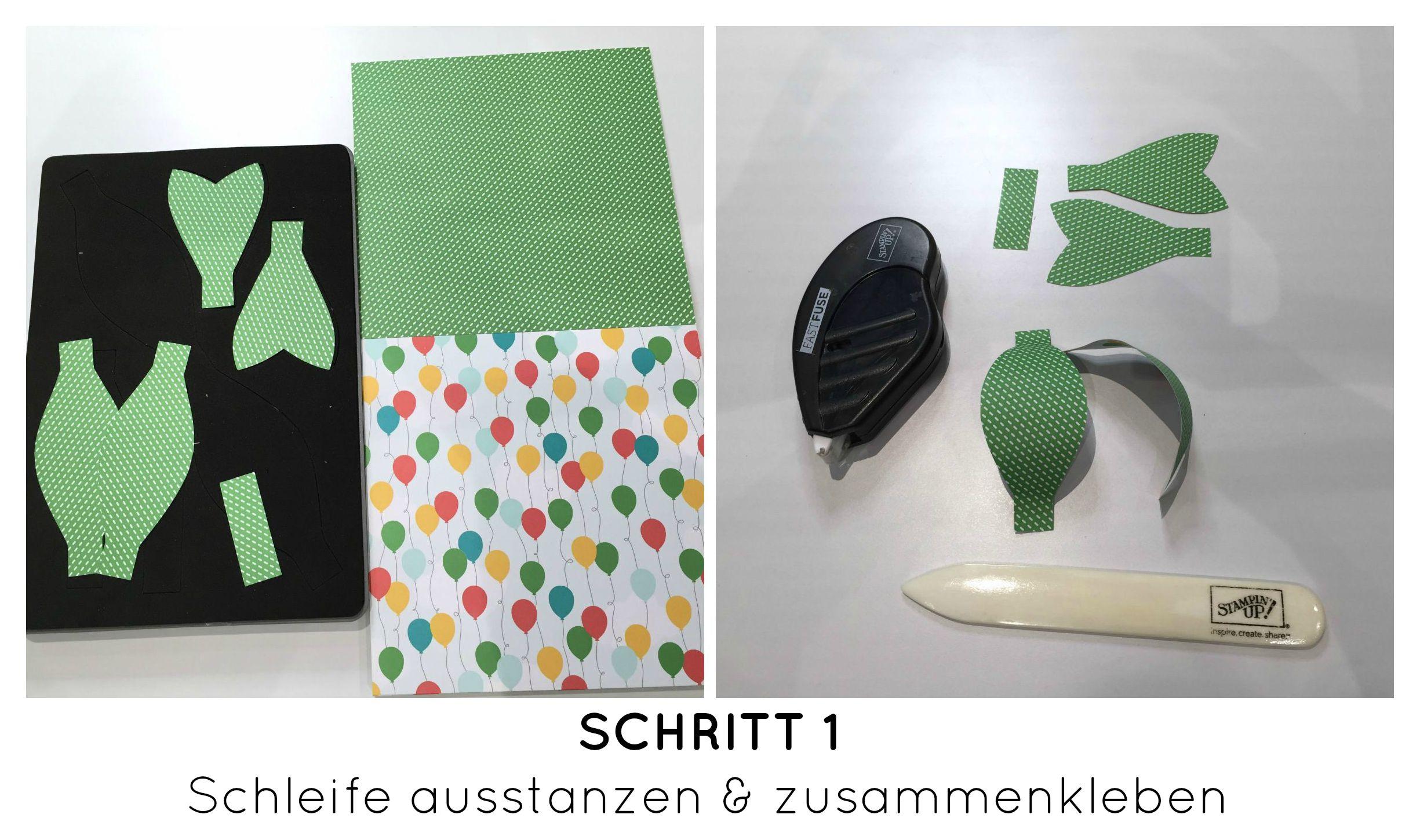 Stampin Up-Stempelherz-Geburtstag-Verpackung-Bag-Geburtstagskarte-Zeig es am Montag Geburtstagsset Sprinkles on Top - Schritt 01b