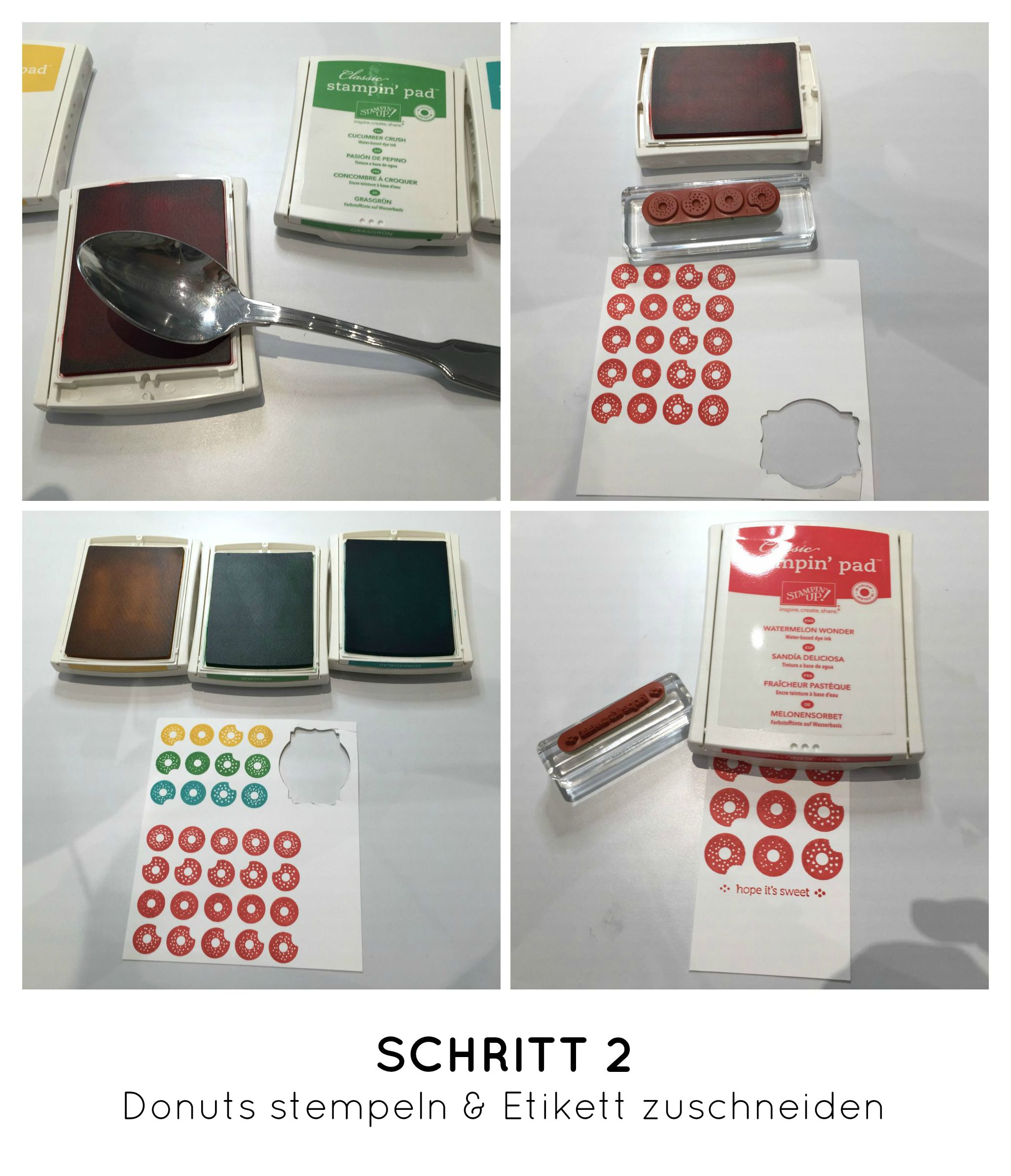 Stampin Up-Stempelherz-Geburtstag-Verpackung-Bag-Geburtstagskarte-Zeig es am Montag Geburtstagsset Sprinkles on Top - Schritt 02b