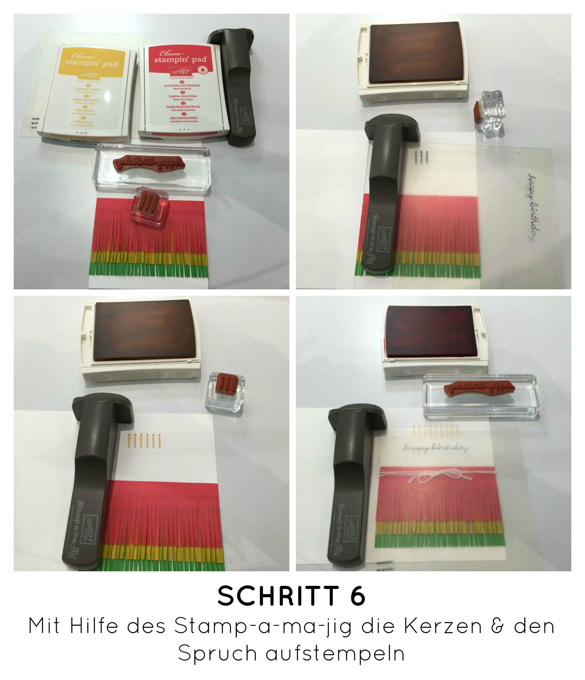 Stampin Up-Stempelherz-Geburtstag-Verpackung-Bag-Geburtstagskarte-Zeig es am Montag Geburtstagsset Sprinkles on Top - Schritt 12b