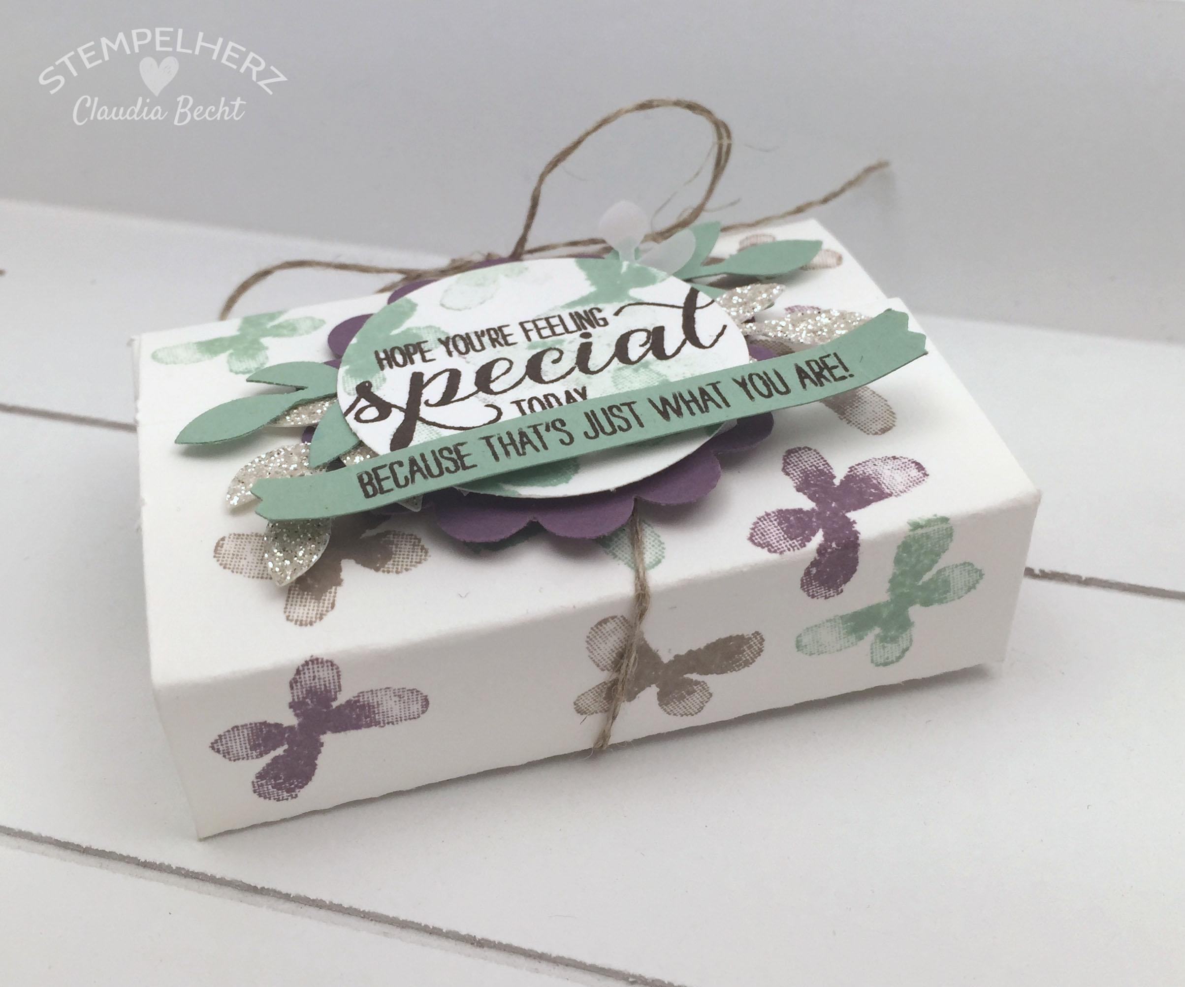 Stampin Up-Stempelherz-Verpackung-Box-Geschenk-Garden in Bloom-Geschenkverpackung Garden in Bloom 01b