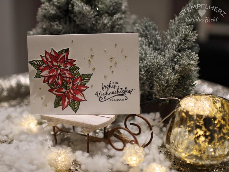 Stampin Up-Stempelherz-Weihnachtskarte-Weihnachtsstern-Stempelset Weihnachtswunder-Weihnachtskarte Weihnachtsstern 02
