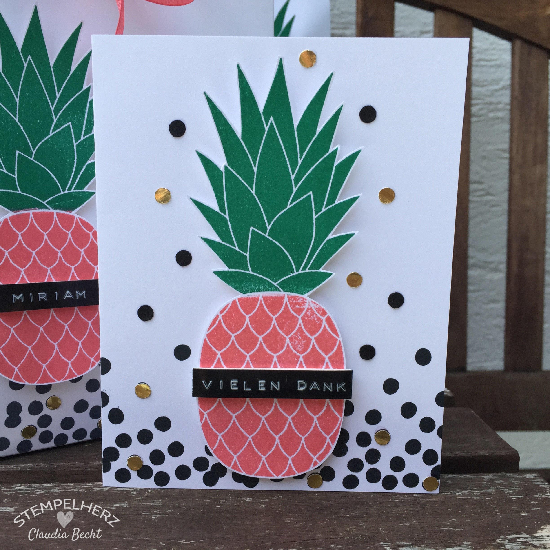Stampin Up - Stempelherz - Inspiration-Art-Lieblingsstempelset - Stempelset Pineapple - Vielen Dank ans Team 07