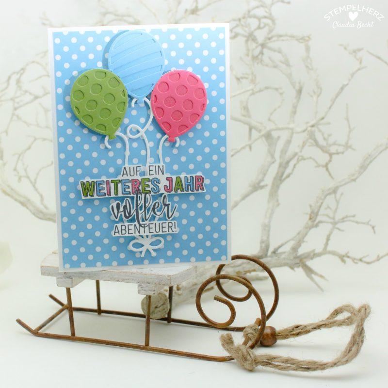 Stampin Up - Stempelherz - Einladungskarten - Ballonparty - Kindergeburtstags-Einladungen Ballonparty 031