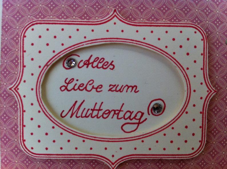 Und noch eine Muttertagskarte…