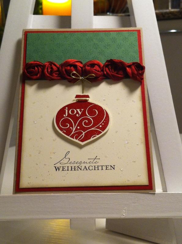 """Adventskalender 2. Tür – Weihnachtskarte """"Joy"""""""