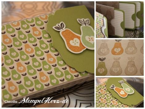 Stampin Up - Mit Liebe gemacht -Minialbum Marmeladenrezepte Collage