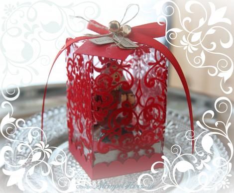 Stampin Up - Designerpapier Adventsgala - Tiny Tags - Weihnachtsmann-Teelicht-Schachtel 01b