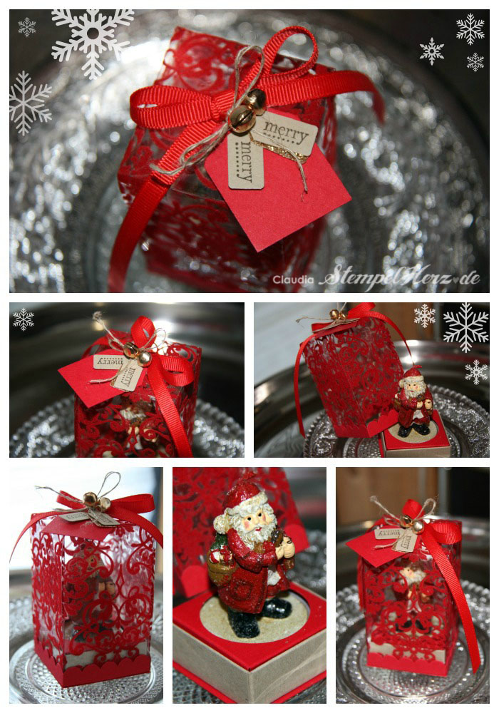 Adventskalender Tür 2 – Weihnachtsmann-Teelicht schön verpackt