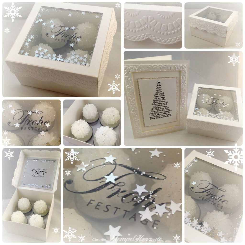 Extrem Stampin Up - Weihnachten - Frohe Festtage - Schachtel Collage  ML68