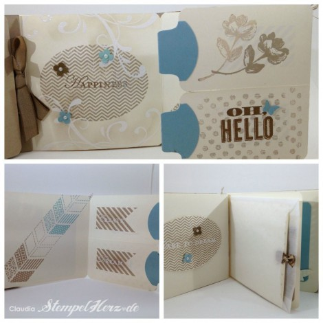 Stampin Up - Stempelherz - Minialbum Hallo Collage 03