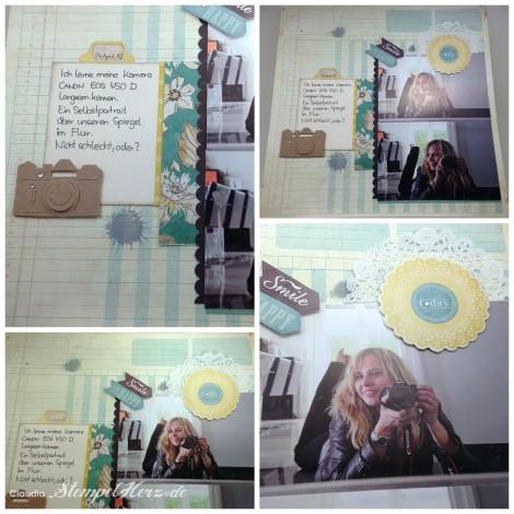 Stempelherz - Layout Selbstportrait Collage