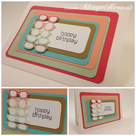 Stampin Up - Stempelherz - Geburtstagskarte - Birthday Card - Spec-tacular Collage b