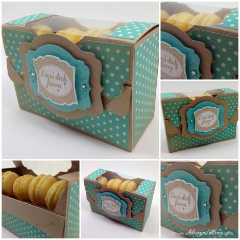 Stampin Up - Stempelherz - Pop'n Cuts Grundkarte - Ein Etikett, ein Gruß - Verpackung Collage b