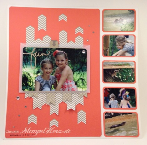 Stampin Up - Stempelherz - Scrapbooking - Layout Poing Seite 1 - 01b