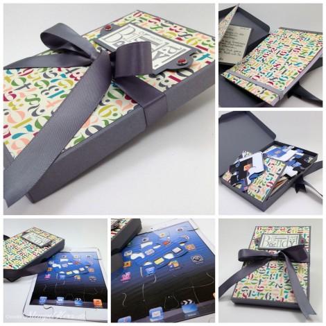 Stampin' Up! - Stempelherz - Verpackung - Notizblock - IPad Mini - Designerpapier Geburtstagsbasics - Gastgeberinnenset Alles Gute zum Geburtstag - Silhouette Collage b