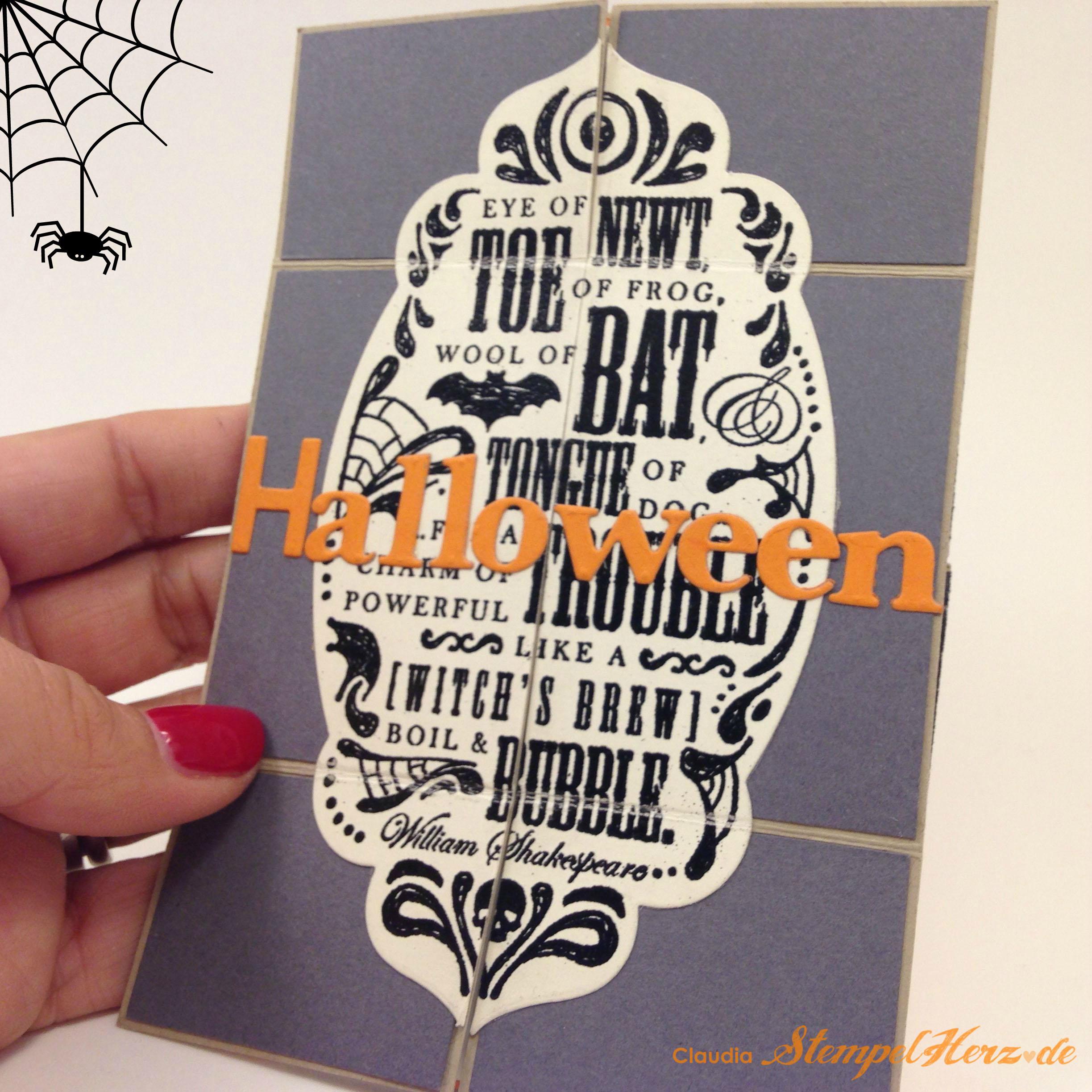 Eine unendlich gruselige Einladungskarte zur Halloween-Party