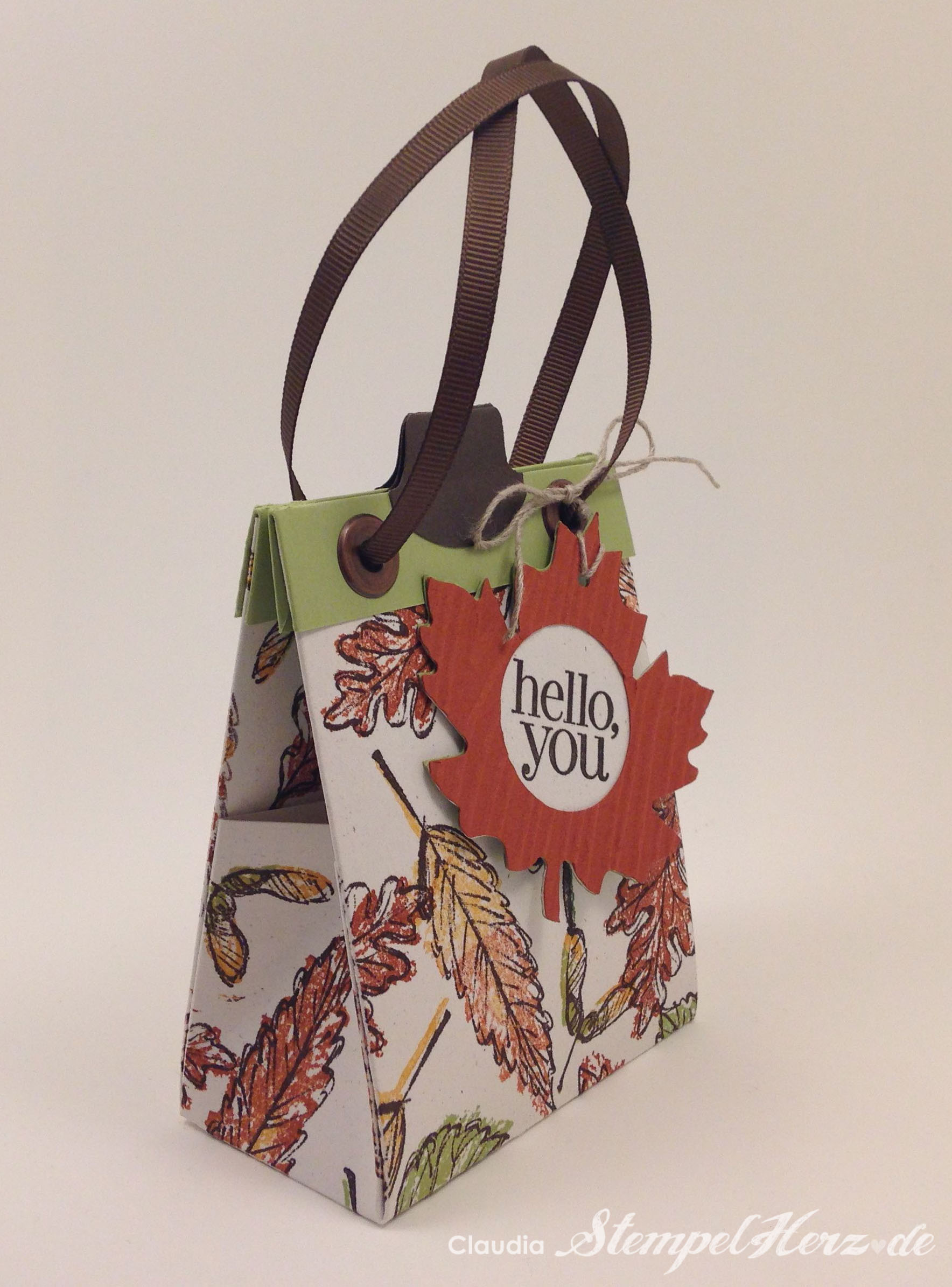 "ONE SHEET BAG II – Schnittmuster Herbstliche Tasche ""hello, you"""