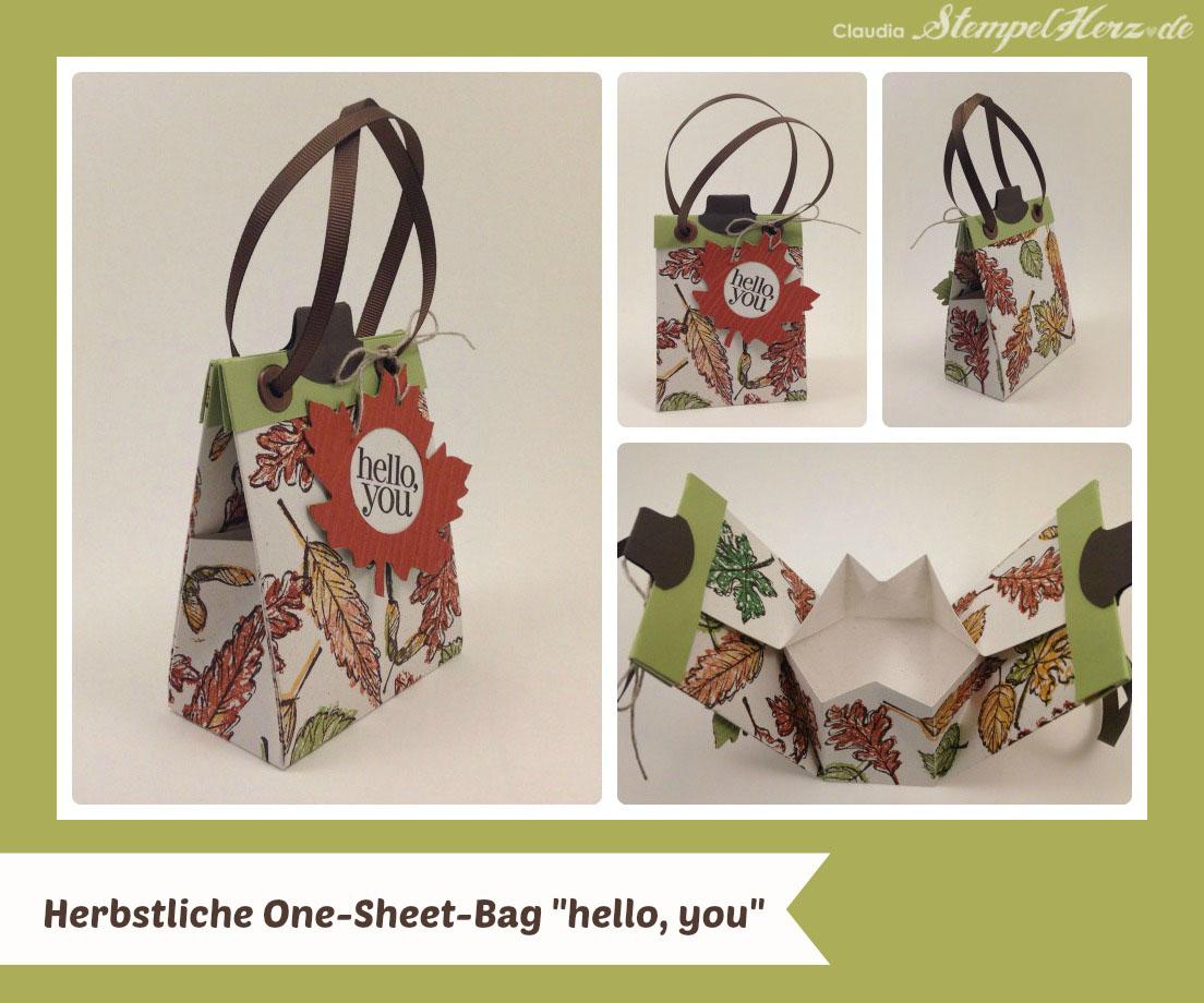 ONE SHEET BAG II – Schnittmuster Herbstliche Tasche \