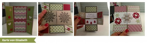 Stampin Up - Stempelherz - Workshop - Weihnachtskarten - Karte 1 Collage