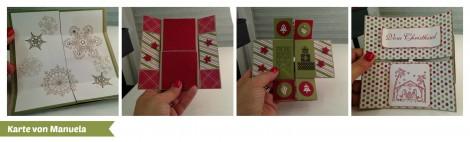 Stampin Up - Stempelherz - Workshop - Weihnachtskarten - Karte 2 Collage