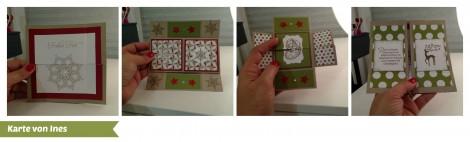 Stampin Up - Stempelherz - Workshop - Weihnachtskarten - Karte 3 Collage