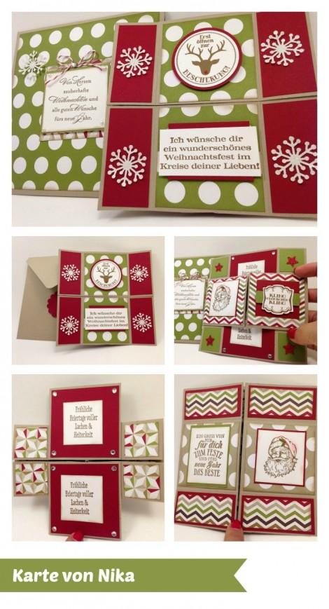 Stampin Up - Stempelherz - Workshop - Weihnachtskarten - Karte 4 Collage
