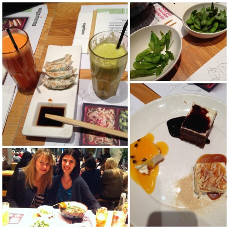 23.11. - 15 - Marion & ich bei Wagamama in Manchester Collage