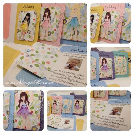 Stampin Up - Stempelherz - Geburtstagseinladung - Invitation - Einladung - Kindergeburtstag Feen Collage