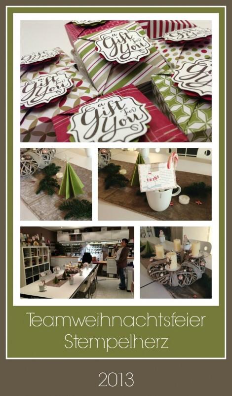 Stampin Up - Stempelherz - Weihnachtsfeier Collage