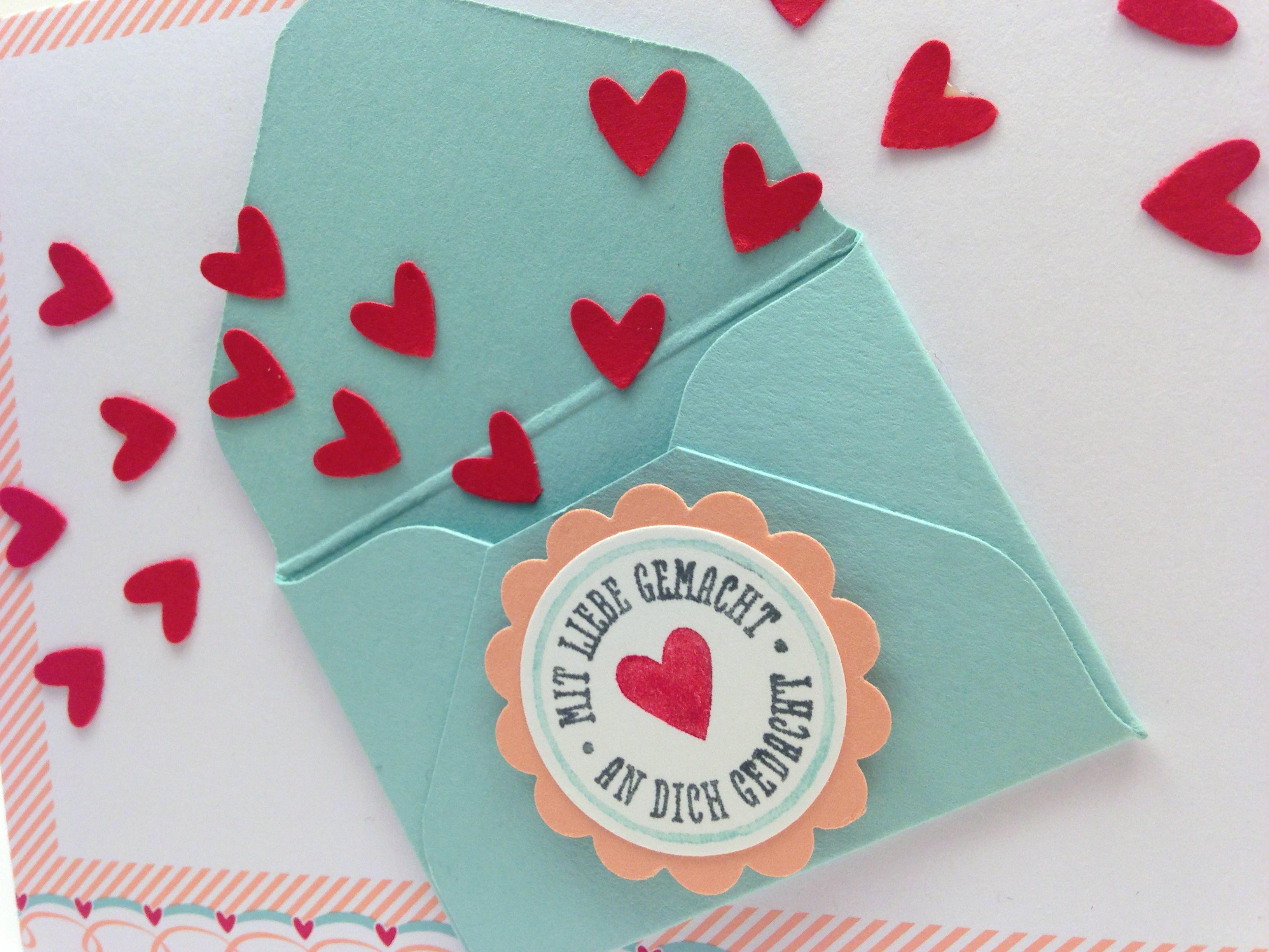 Valentinskarten-Set mit Liebe gemacht – die Zweite