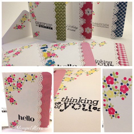 Stampin Up - Stempelherz -  Verpackung - Grußkarte - Geburtstagskarte - Simply Pressed Modellierton - Kind & Cozy - Secret Garden - Kreativ & selbst gemacht - Kartenset Fruehlingsgefuehle Collage 02