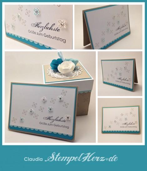 Stampin Up - Stempelherz - Geburtstagskarte - Aus dem Garten der Freundschaft - Etwas ganz Besonderes Collage