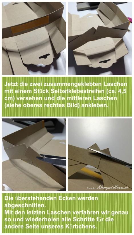 Stampin Up - Stempelherz - Korb - Ostern - Osterkoerbchen Anleitung Collage 08