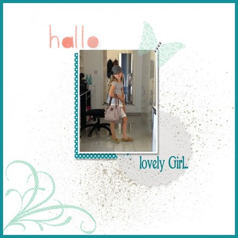 Stampin Up - Stempelherz - MDS - My Digital Scrapbooking - Layout Hallo lovely Girl 01