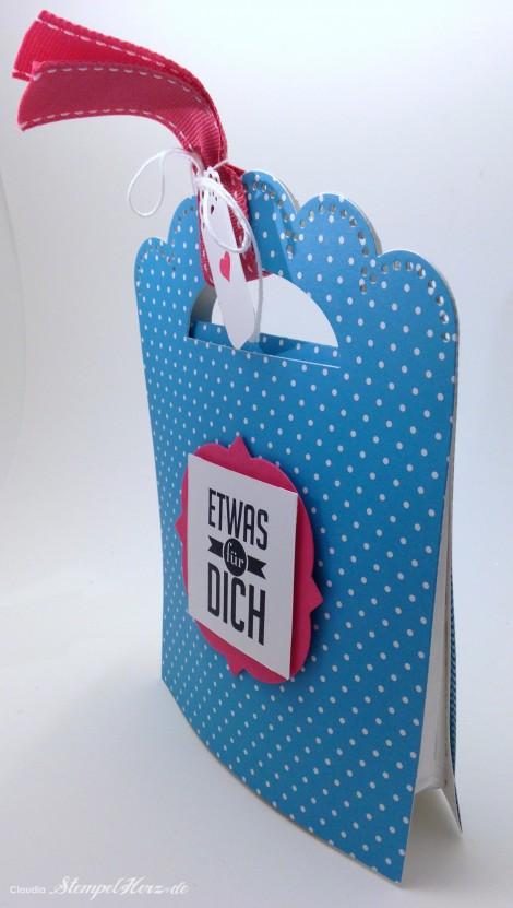 Stampin Up - Stempelherz - Schmuckverpackung - Armband - Geschenk - Glas Cabochon - Naturnah - Schmuckverpackung Wickelarmband 0g
