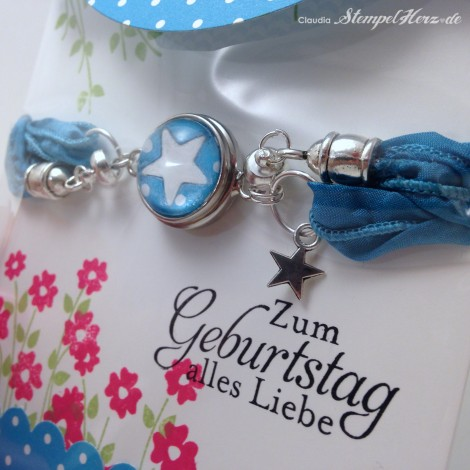 Stampin Up - Stempelherz - Schmuckverpackung - Armband - Geschenk - Glas Cabochon - Naturnah - Schmuckverpackung Wickelarmband 0i