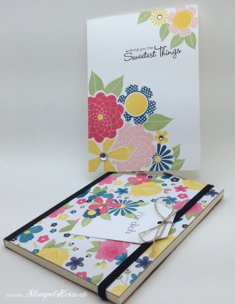 Stampin Up - Stempelherz - Blumenstempel - Two Step - Blumenkarte The Sweetest Things 01