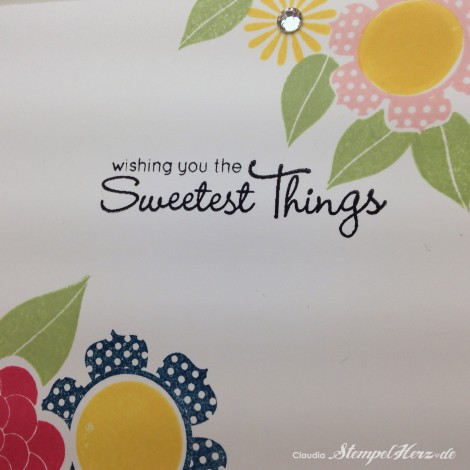 Stampin Up - Stempelherz - Blumenstempel - Two Step - Blumenkarte The Sweetest Things 04