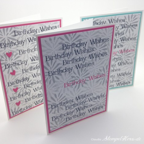 Stampin Up - Stempelherz - Geburtstagskarte - Simple Stems - Four You - Karte Birthday Wishes 02