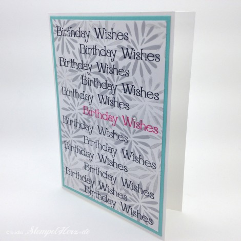 Stampin Up - Stempelherz - Geburtstagskarte - Simple Stems - Four You - Karte Birthday Wishes 04