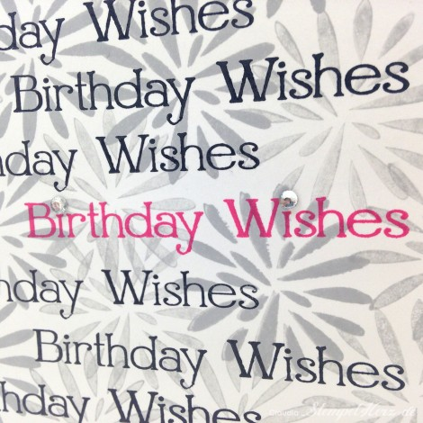 Stampin Up - Stempelherz - Geburtstagskarte - Simple Stems - Four You - Karte Birthday Wishes 05