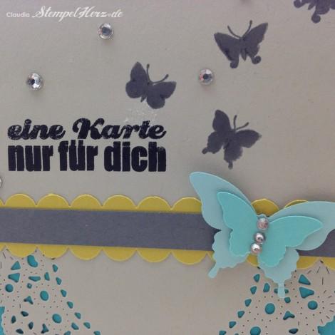 Stampin Up - Stempelherz - Grußkarte - Schmetterling - Butterfly - Doily - Eine Karte nur fuer dich 04